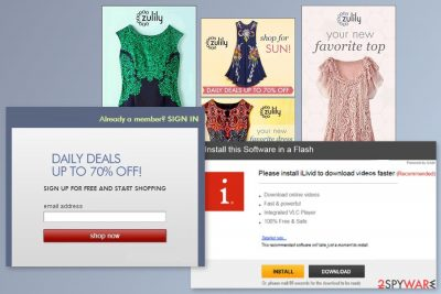 Example of Zulily ads