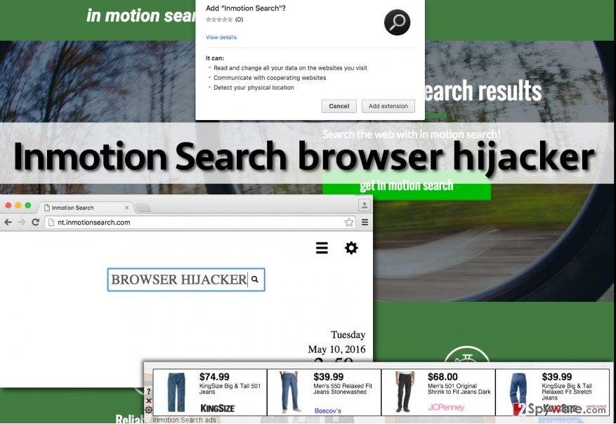 Inmotion Search redirect virus causes a lot of problems for the computer user