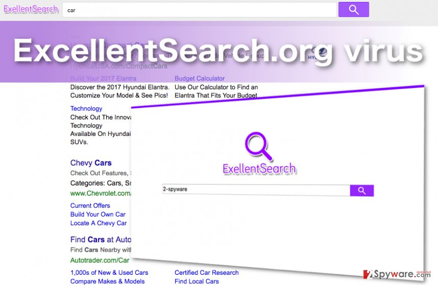 Screenshot of the ExcellentSearch.org hijacker virus