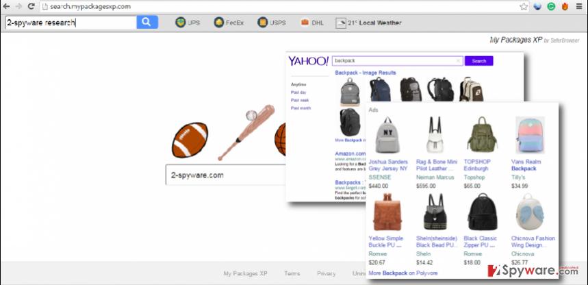 Search.mypackagesxp.com virus