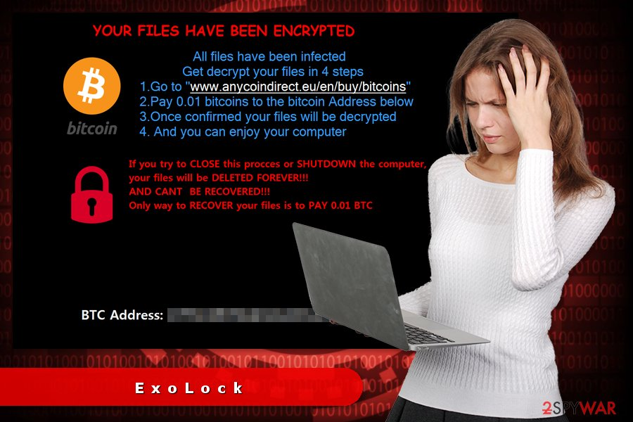 The image of ExoLock ransomware virus