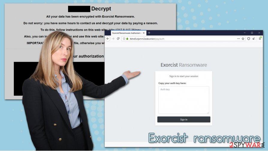 Exorcist ransomware virus