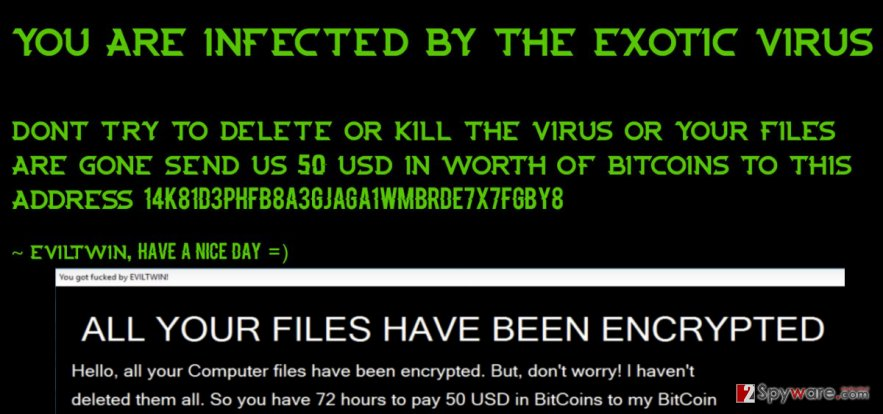 Ransom note by Exotic 2.0 ransomware virus