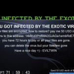 Ransom note by Exotic 3.0 ransomware virus