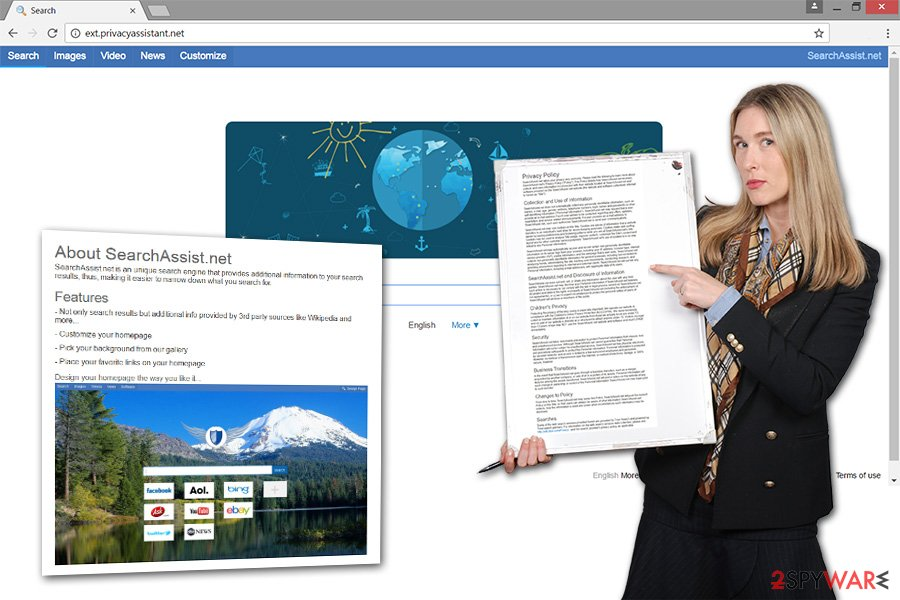 The image of ext.privacyassistant.net virus