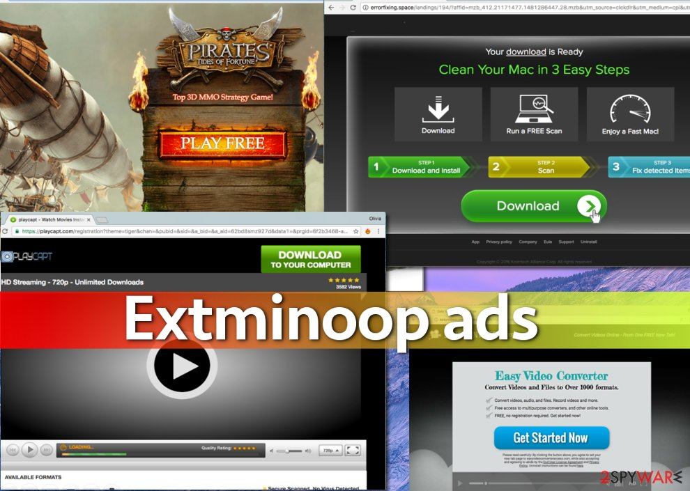 A few examples of Extminoop ads