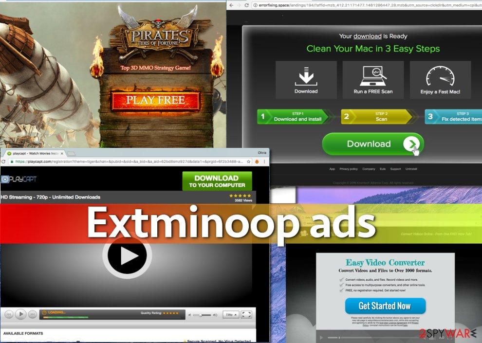 A few examples of Extminoop ads