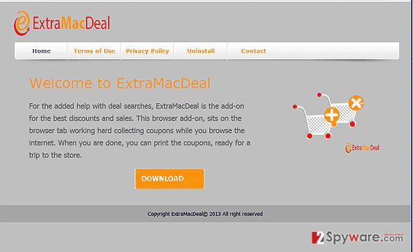 ExtraMacDeal ads snapshot