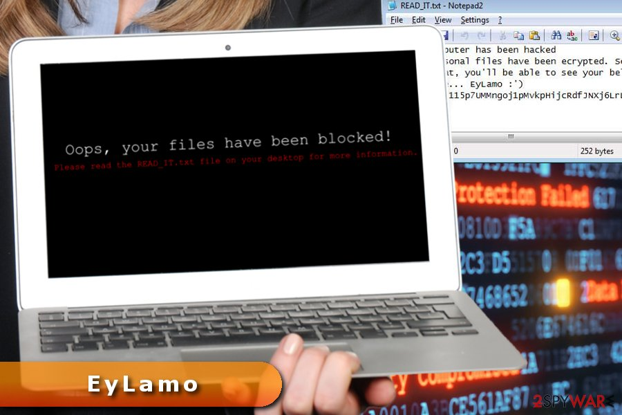 The image of EyLamo ransomware virus