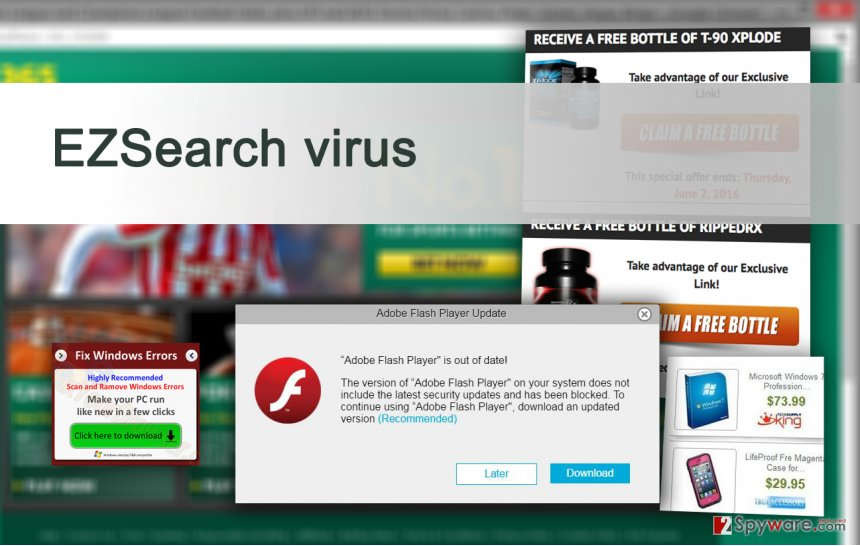 Example of EZSearch virus