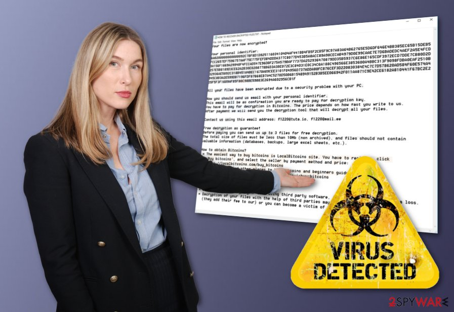 F1220@tuta.io ransomware virus
