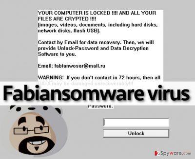 Fabiansomware virus displays a threatening alert