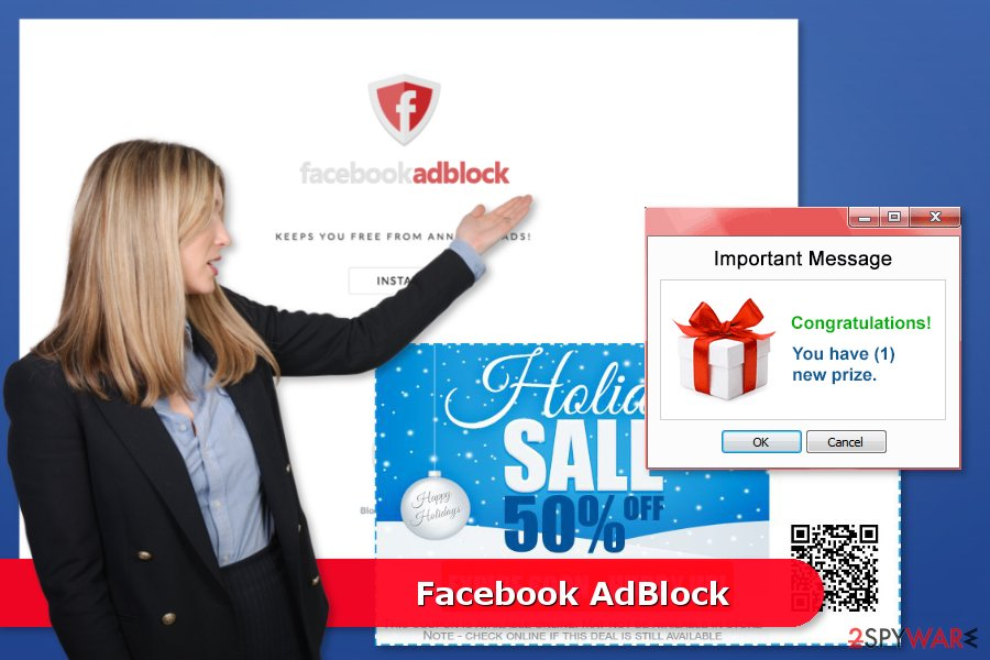 Example of Facebook AdBlock ads