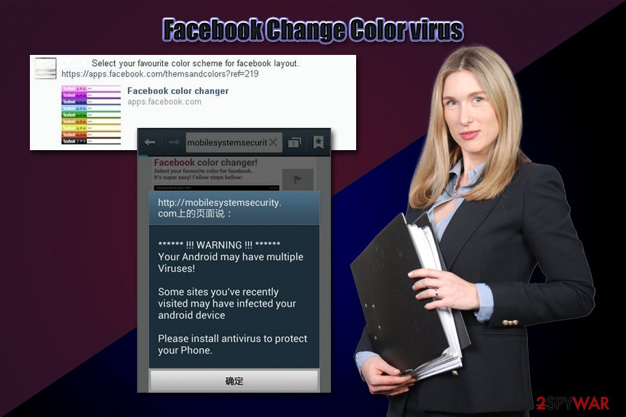Facebook Change Color virus Trojan
