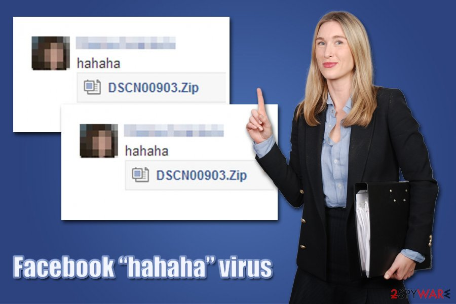 "Facebook ""hahaha"" virus infection"