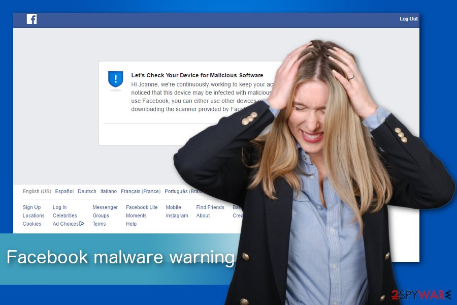 Facebook Malware warning illustration