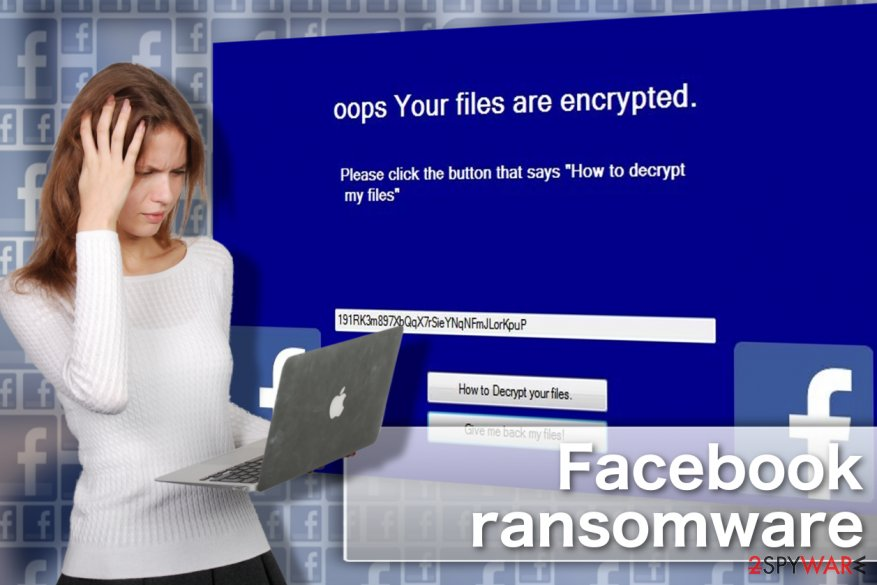Image showing Facebook virus locksreen