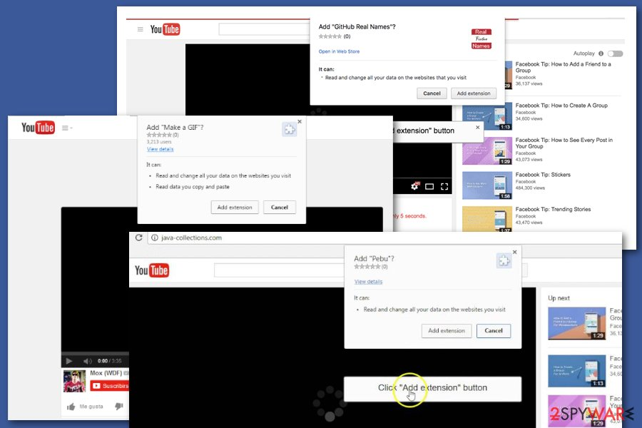 Facebook video virus installation