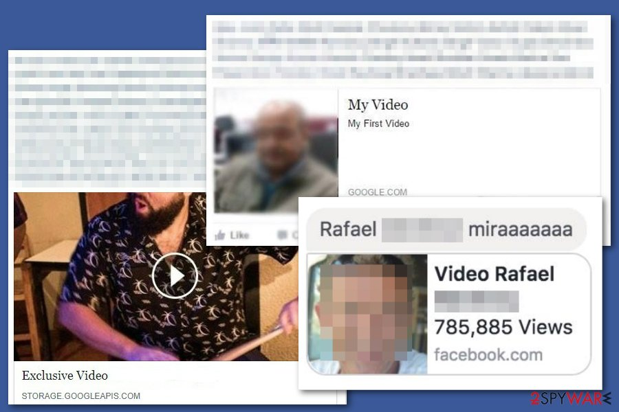 Facebook video virus posts