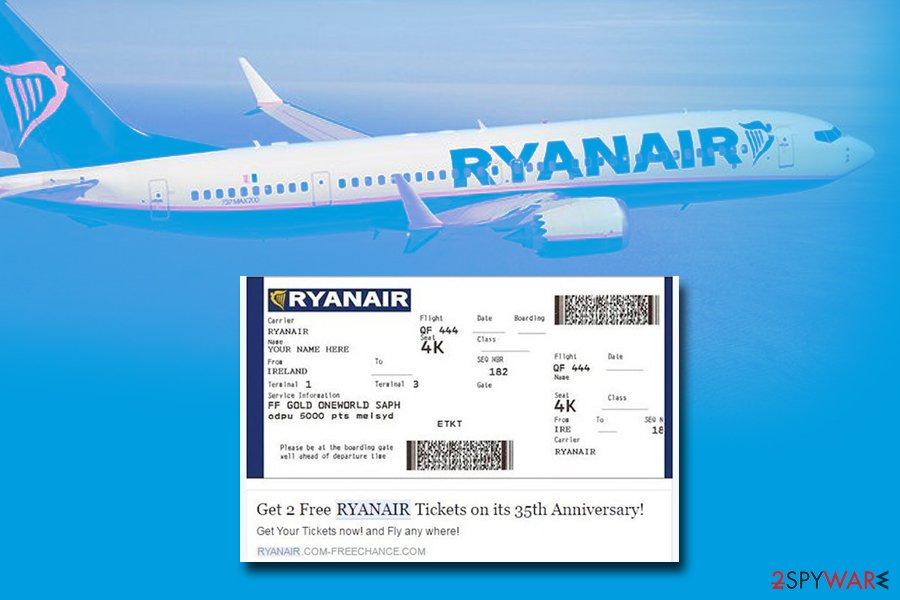 Facebook virus Ryanair scam