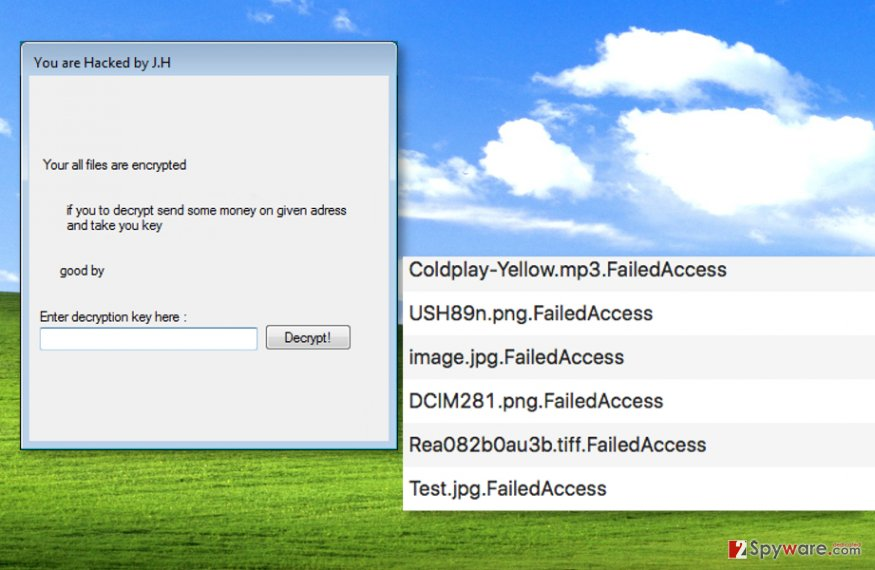 FailedAccess ransomware encrypts files