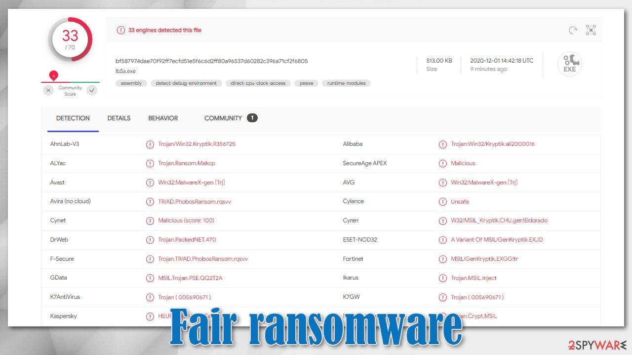 Fair virus detection