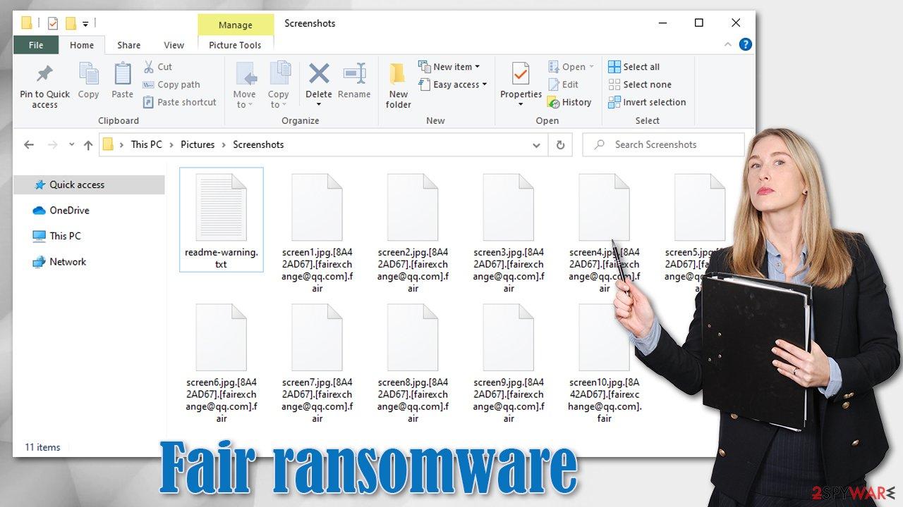 Fair ransomware virus