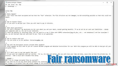 Fair ransomware