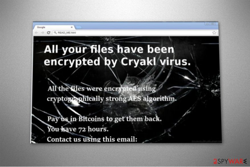 Fairy Tail ransomware - original version