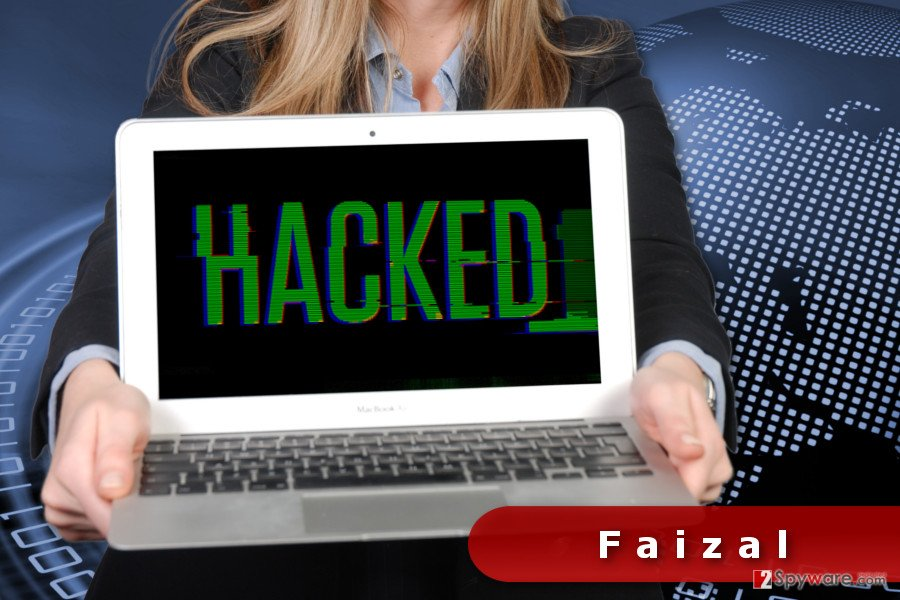 The image of Faizal ransomware virus