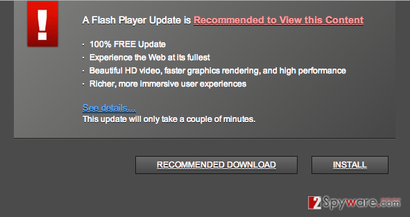 Trustedupdate.com popup virus snapshot