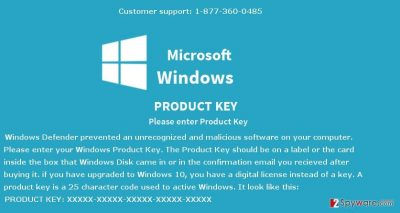 the image of Windows Defender Prevented Malicious Software