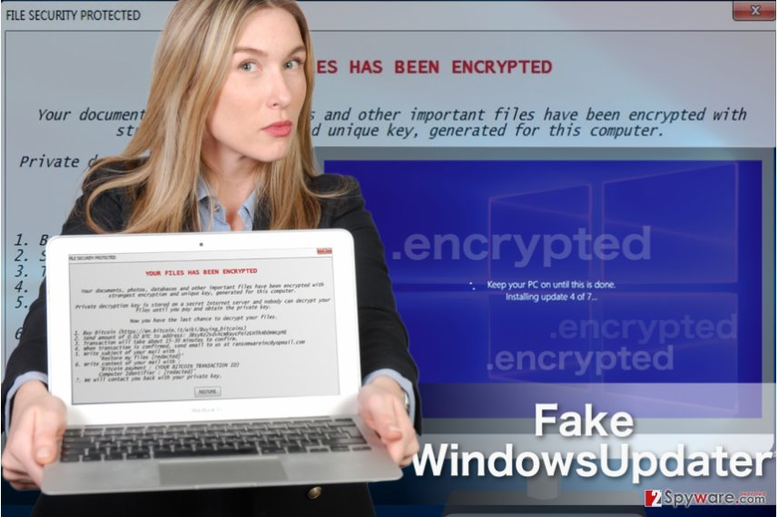 Example of Fake WindowsUpdater virus
