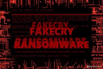 The image displaying FakeCry virus