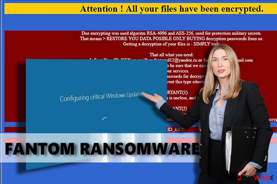 Signs of Fantom ransomware existence on infected computer