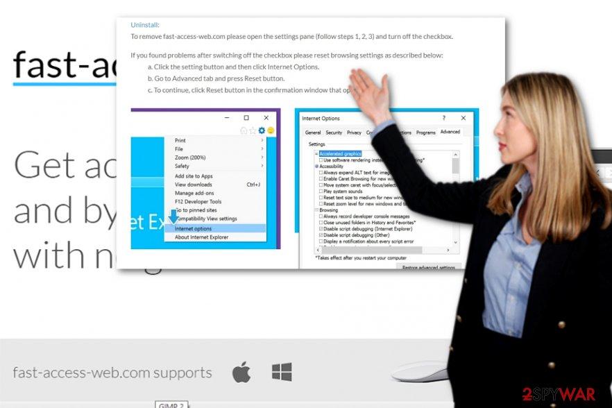The screenshot of Fast-Access-Web