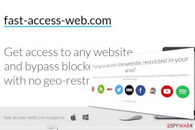The sample of Fast Access Web main page