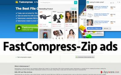 FastCompress-Zip adware displaying ads