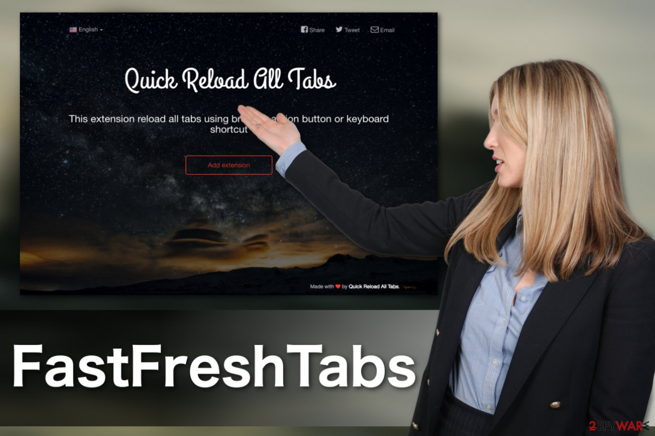 Image of the FastFreshTabs adware