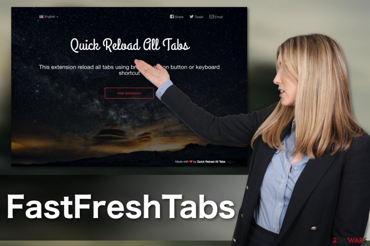 Image of the FastFreshTabs adware