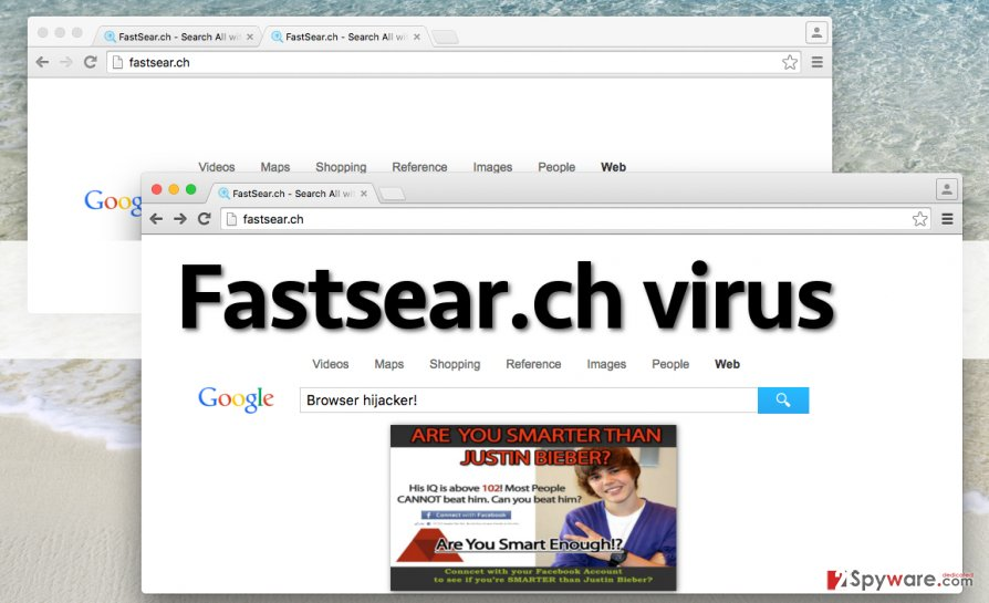 fastsear.ch virus promotes fake search engine