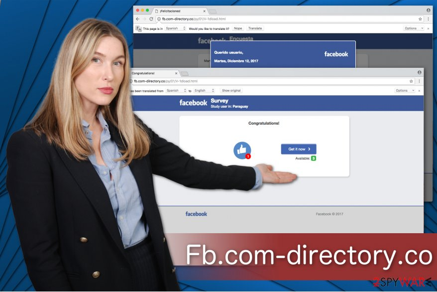 The illustration of Fb.com-directory.co virus