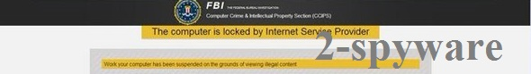 FBI Computer Crime and Intellectual Property Section virus snapshot