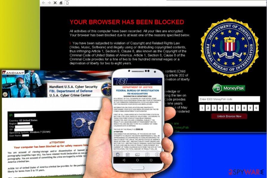 Versions of FBI viruses