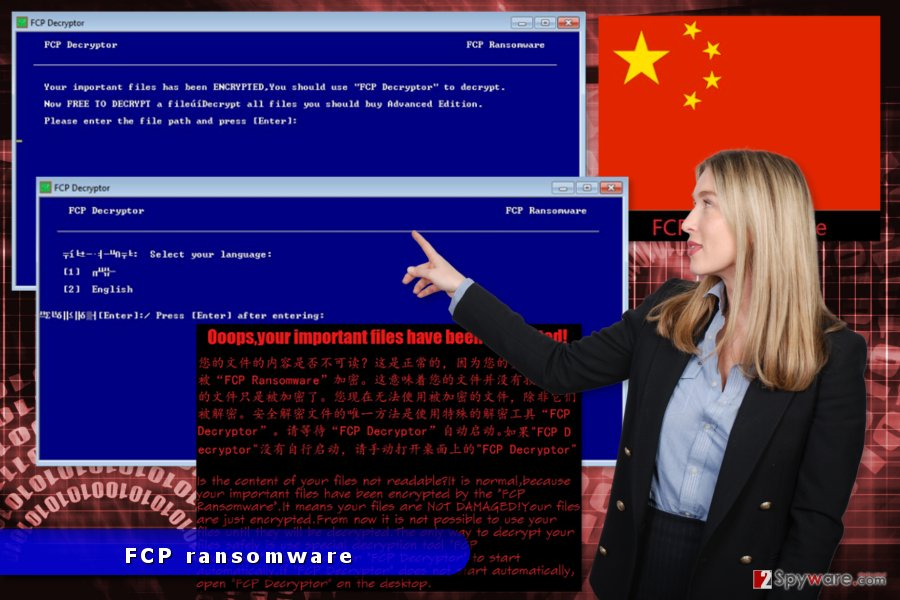 The image of FCPRansomware attack