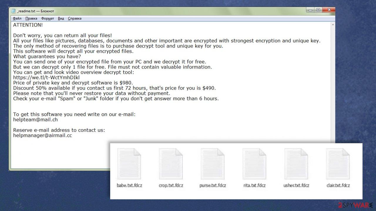Fdcz ransomware virus