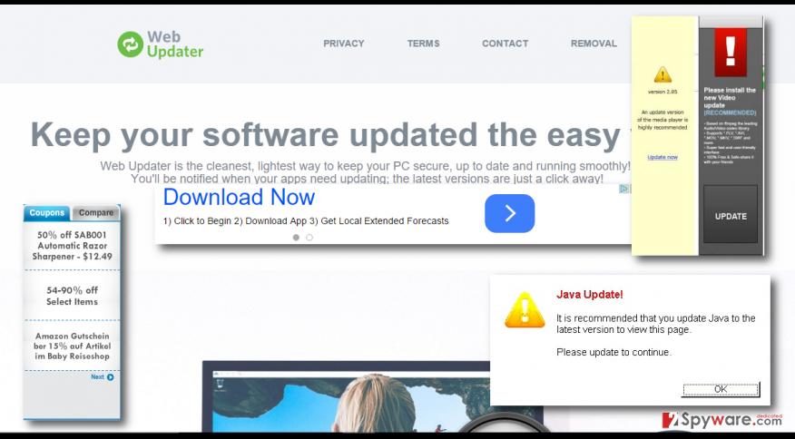 Web Updater ads
