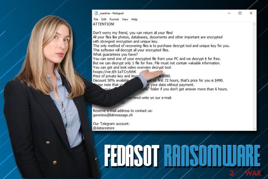 Fedasot ransomware virus