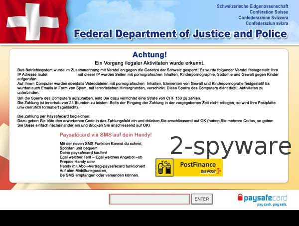 Federal Department of Justice and Police ransomware