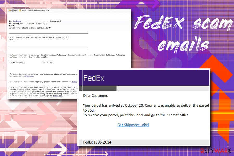 FedEx tracking virus examples